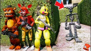 - CAN THE ANIMATRONICS HIDE FROM THE SCARY ENDOSKELETON GTA 5 Mods FNAF Kids RedHatter