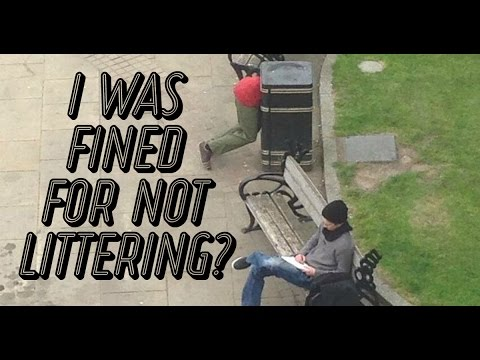 I WAS FINED FOR NOT LITTERING?