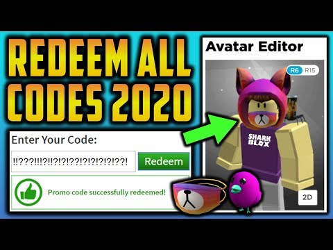 Roblox Redeem Robux Codes 2020 Redeeming Every Working Roblox Promo Code 2020 Youtube