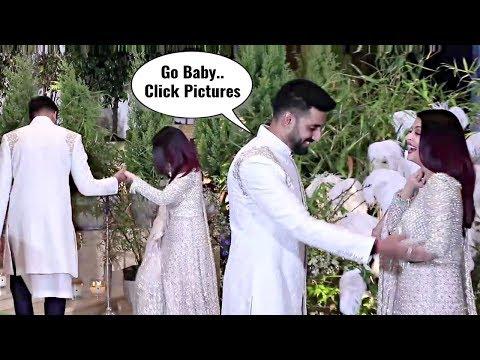 Aishwarya Rai Sweet And Cute Moments With Abhishek Bachchan At Sonam Kapoor Wedding Reception