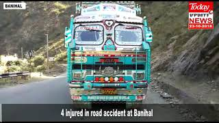 4 injured in road accident at Banihal