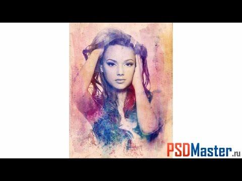 Создаем в фотошоп Текстурный портрет