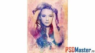 �������� ���� Создаем в фотошоп Текстурный портрет ������