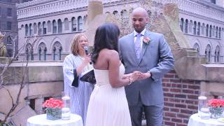 NYC Wedding Minister/Justice of the Peace Exchange of Rings Vows, Family & Community Blessings