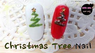 Christmas Tree Nail Art Tutori…