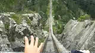 Bajada en el Funicular Gelmer . El mas inclinado del mundo!