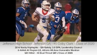 Colby Clark Highlights - QB/Safety - Class of 2020