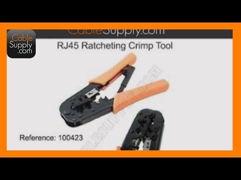 how to use a rj45 modular crimp tool youtube. Black Bedroom Furniture Sets. Home Design Ideas