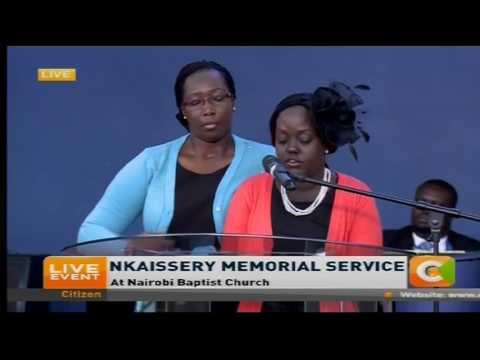 Nkaissery's daughter eulogizes the Dad