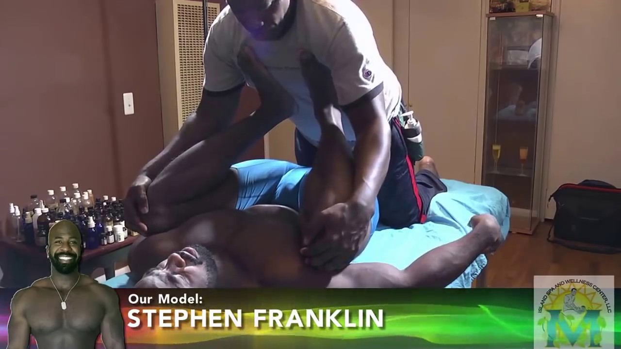 Black man massages my wife