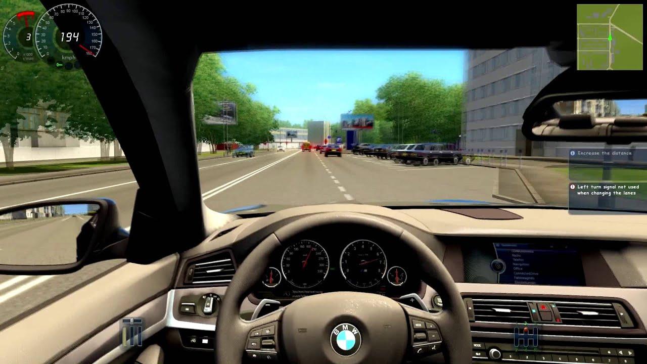 City Car Driving Bmw M5 F10 Remake 318 Km H Big Crash At The End Youtube