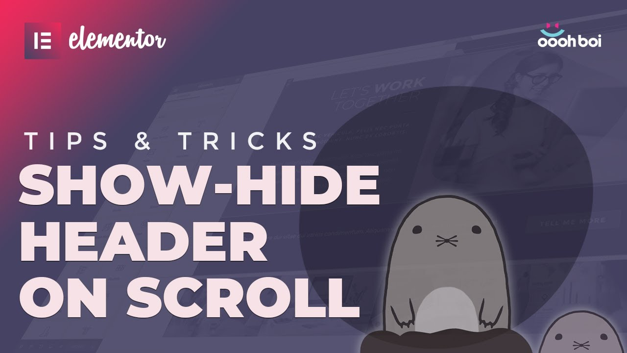 Show-hide Header on Scroll in Elementor PRO