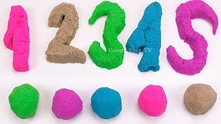 Learn Numbers with Sparkle Play Doh | 1-20 | Make Numbers with Kinetic Sand | Learn To Count