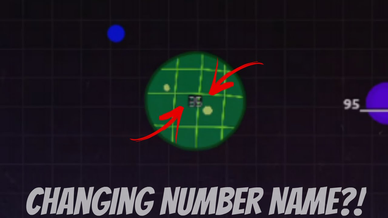 AGARIO CHANGING NUMBER NAME - Cool name Glitch? - Agar io Name Trick