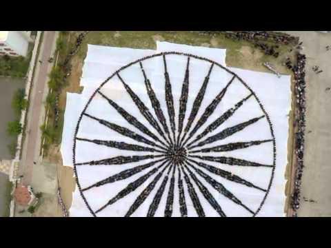Ashoka Chakra - A Symbol of Unity (Human Chain)
