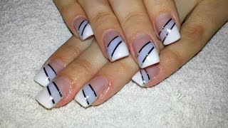 Quick French Nail Art Design Using Nail Art Stripes