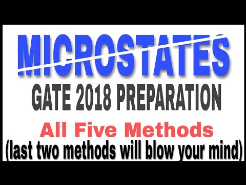 [Must Watch] Microstates :Gate 2018 preparation. How to calculate Microstates. Everything Answered.