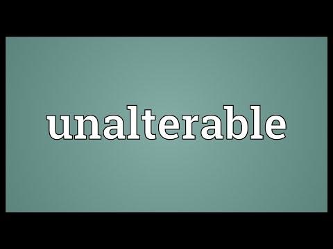 Header of unalterable