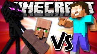 MUTANT ENDERMAN VS HEROBRINE - Minecraft Batalha de Mobs - Mutant Creature Mod