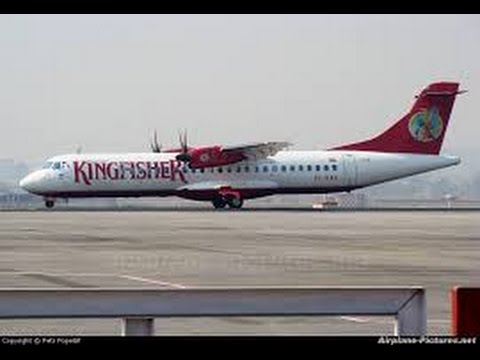 Kingfisher Airlines ATR night takeoff from Amritsar. ATQ-DEL
