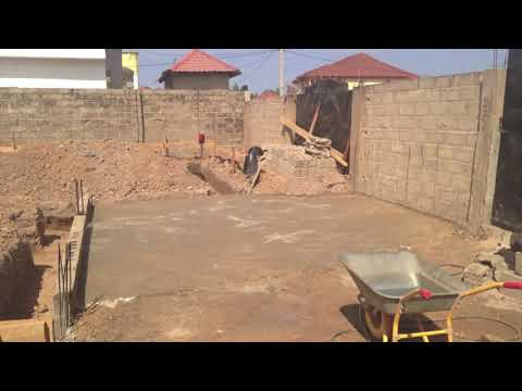 Building Four Bedroom in Gambia with Cost || Part 1   Foundation