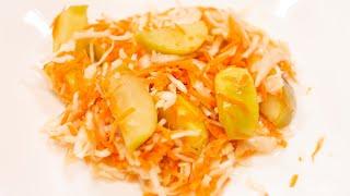 КВАШЕНАЯ КАПУСТА С ЯБЛОКАМИ - очень ПРОСТОЙ рецепт ! Хрустящая и ароматная капуста!