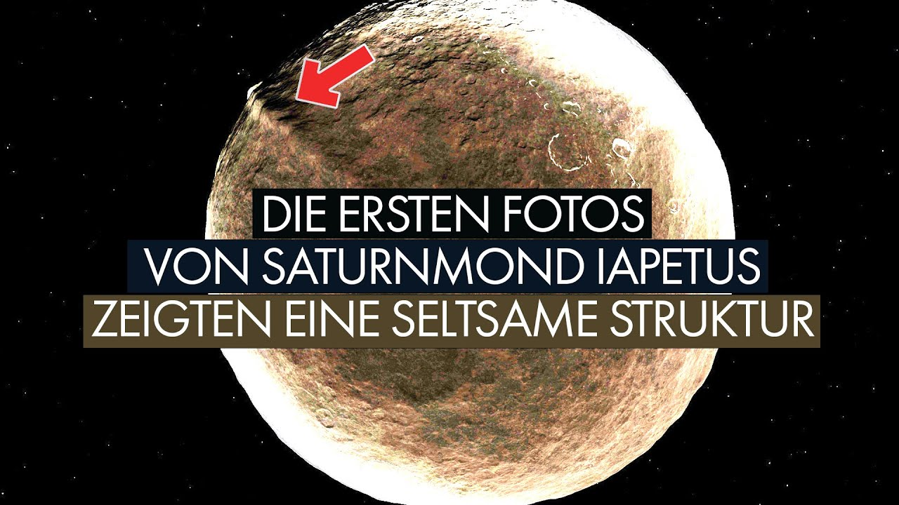Die ersten Fotos von Iapetus zeigten eine seltsame Struktur