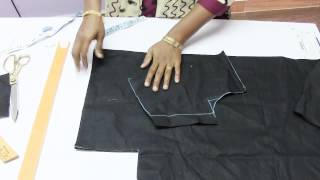 Triangle Dress for girl 1  Marking & Cutting