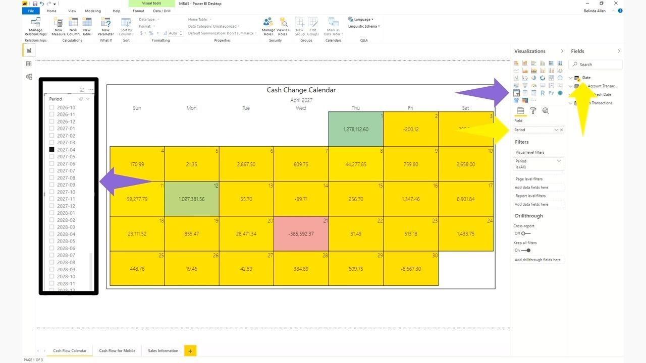 Microsoft Power BI: Cash flow in Power BI and PowerApps - THR1014