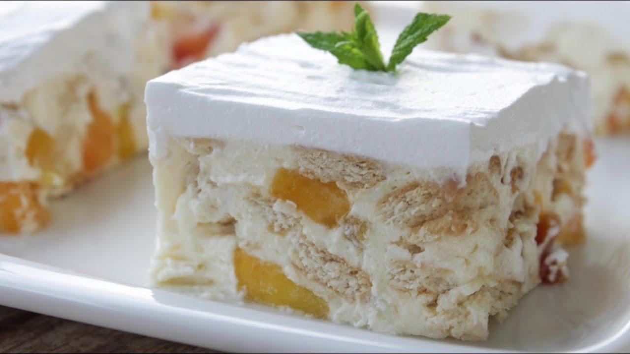 Γλυκάρα! Δροσερό Γλυκό Ψυγείου (Εύκολο και Οικονομικό) - Peach Vanilla Pudding