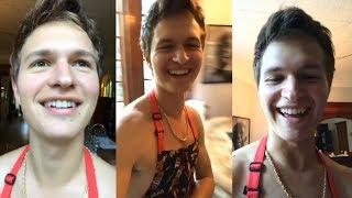 Ansel Elgort | Instagram Live Stream | 17 September 2017 cooking w/ Violetta