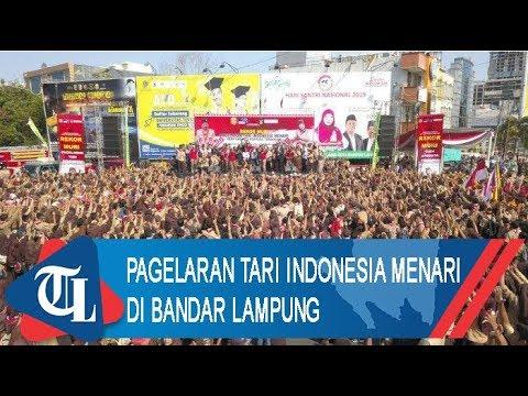 Pagelaran Tari Indonesia Menari Di Bandar Lampung | Tribun Lampung News Video