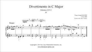 Haydn : Divertimento - Sonata Hob. XVI:3 (III : Menuet)