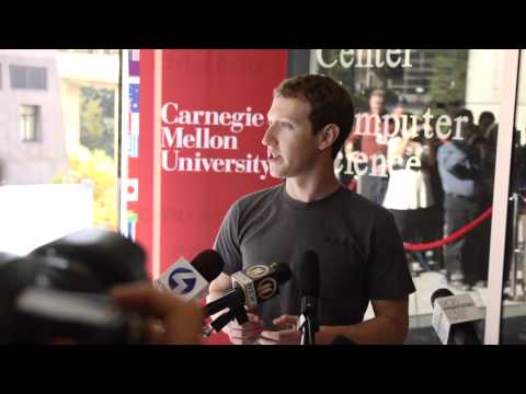 Facebook CEO Mark Zuckerberg Visits CMU