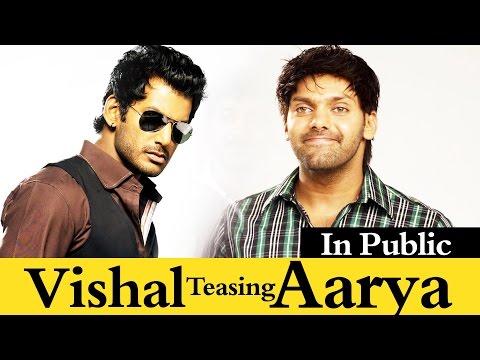 Vishal Teased Arya   AVAN IVAN Shooting Spot COmedy   SSR FUNCTION   Cine Flick