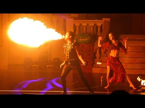 Fire Dancers / Eaters in Oogie Boogie's Freaky Funhouse Show at Walt Disney World