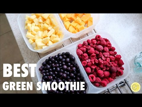 WHAT I EAT IN A DAY | THE BEST VEGAN GREEN SMOOTHIE EVER!