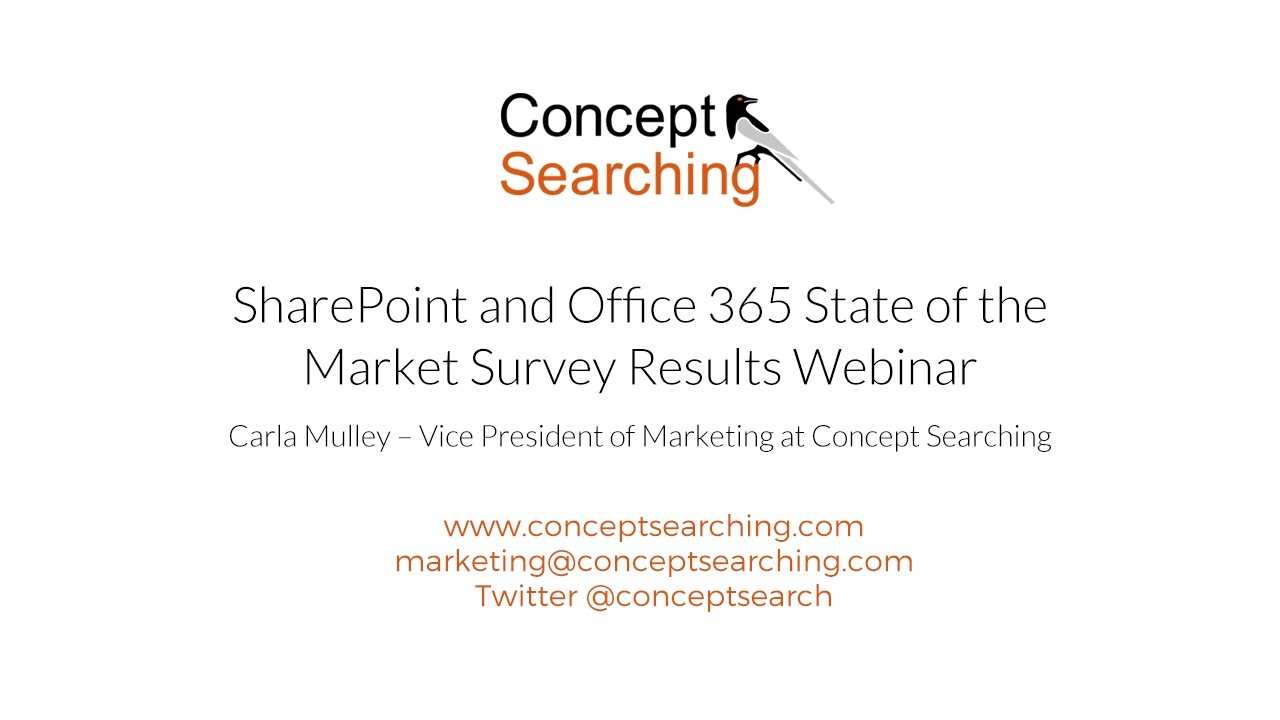 SharePoint and Office 365 State of the Market Survey Results