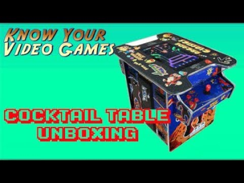 Cocktail Arcade Machine W/ 412 Classic Games - Unboxing