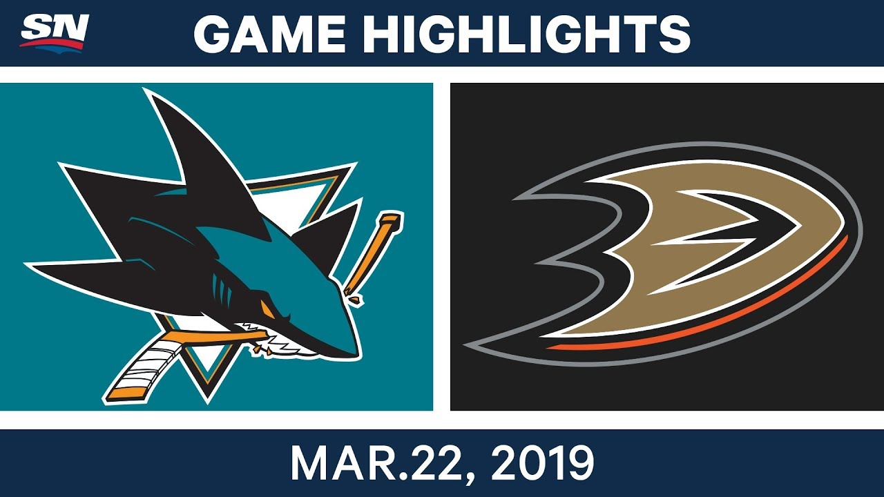NHL Game Highlights | Sharks vs. Ducks - March 22, 2019