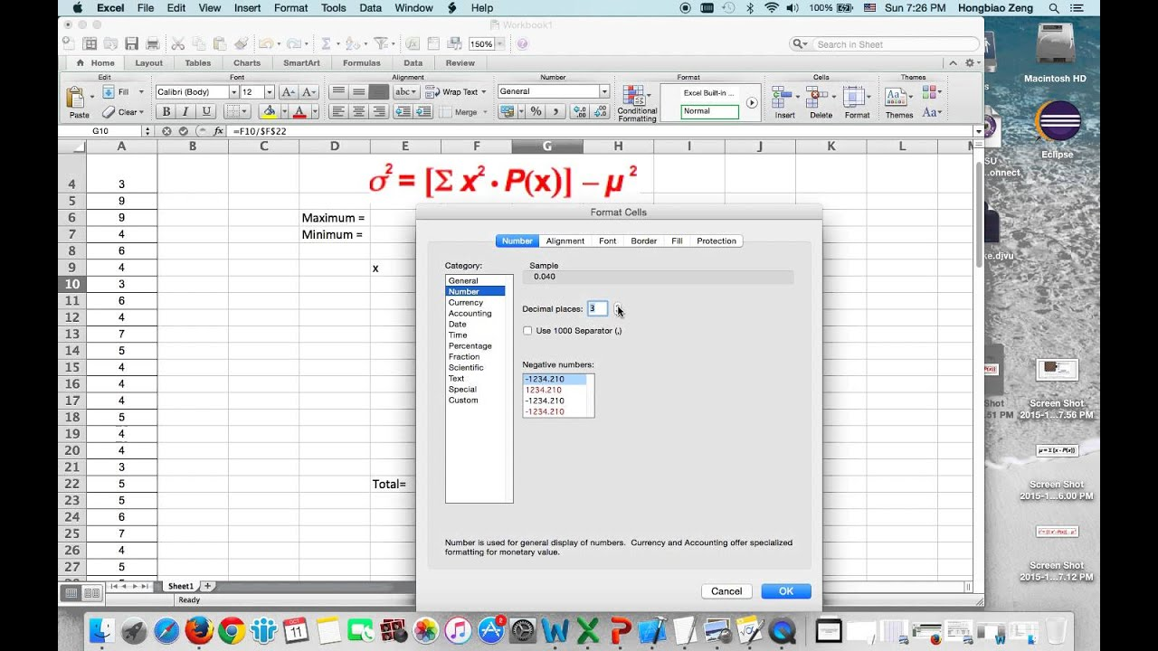 How To Calculate Mean And Standard Deviation Of A Discrete Probability  Distribution How To Calculate Mean