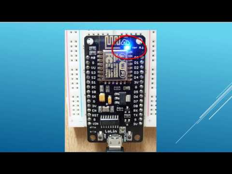NodeMcu (ESP8266) Tutorial 2: Blinking integrated LED