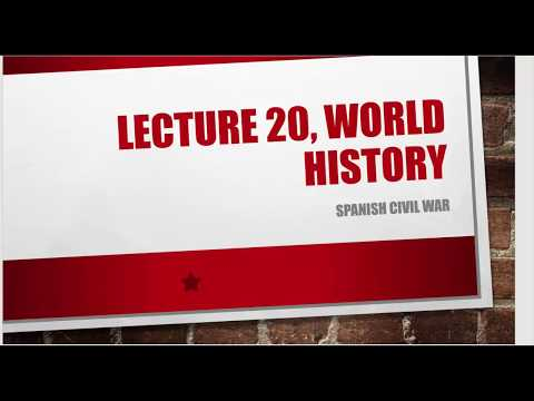 L 20 , Spanish Civil War, 1936-1939, World History for UPSC/IAS/CSE Mains Paper 1