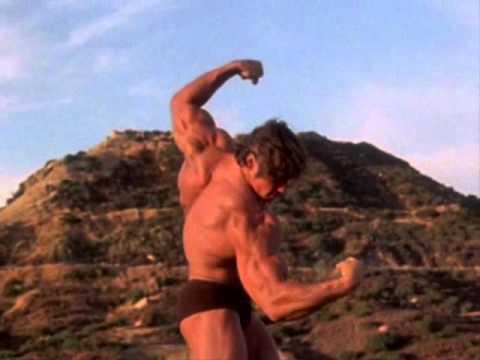 Arnold Pumping Iron Hill Posing Scene