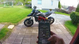 Ducati Hypermotard 821 with Quick Shift - 0-180 Onboard & Soundcheck