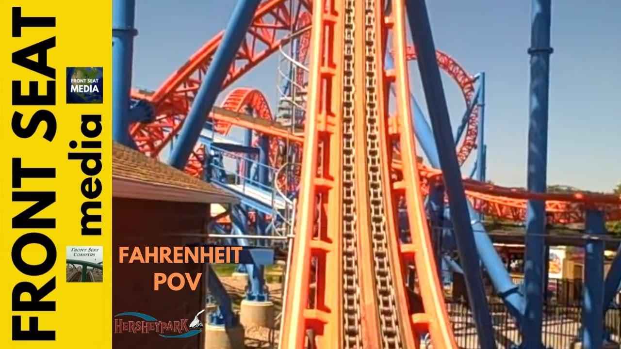 Hersheypark Ride On Fahrenheit Front Seat Pov Wow Hershey Park Roller Coaster