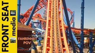Hersheypark - Ride On Fahrenheit, front seat ride POV! Wow! Hershey Park rollercoaster coaster
