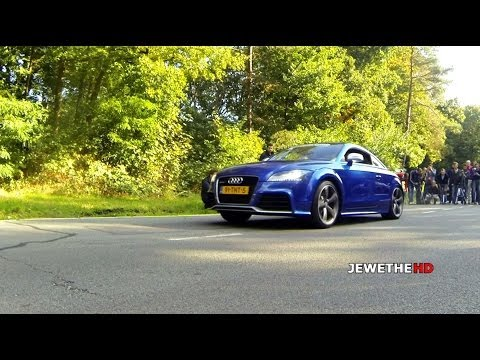 Blue Audi TT-RS Fast LAUNCH W/ Wheelspin! (1080p Full HD)