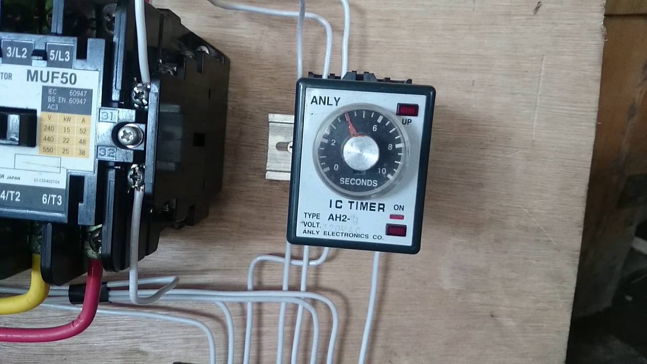 star delta control wiring diagram with timer simple light switch wye motor - youtube