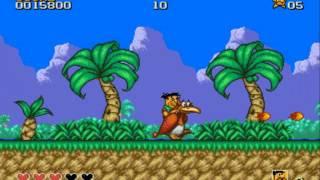 18+Прохождение игры Flintstones Sega часть 1 с комментариями